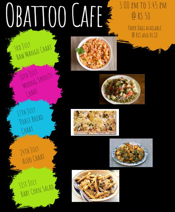 Obattoo Cafe: July Flavours
