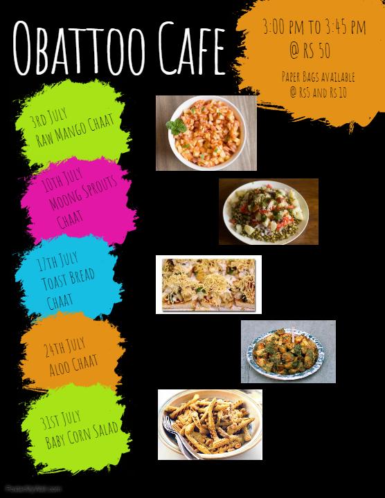 Obattoo Cafe: July Flavours