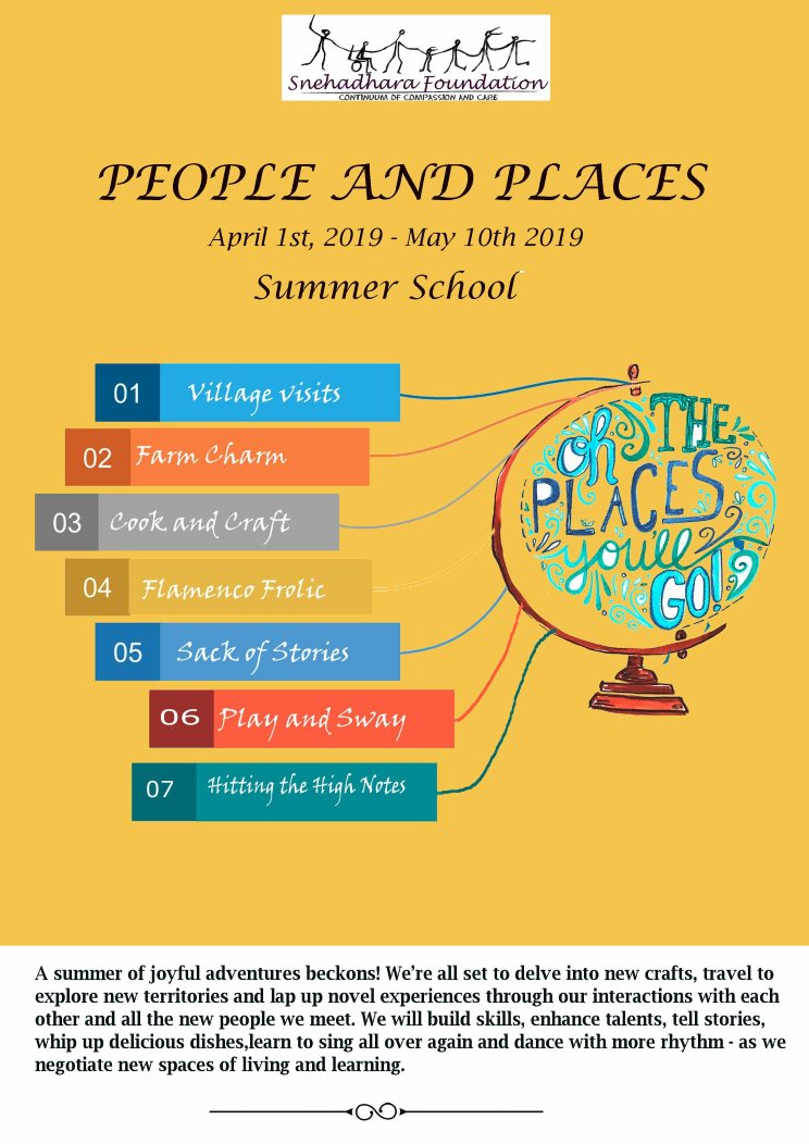 People and Places- Summer School 2019