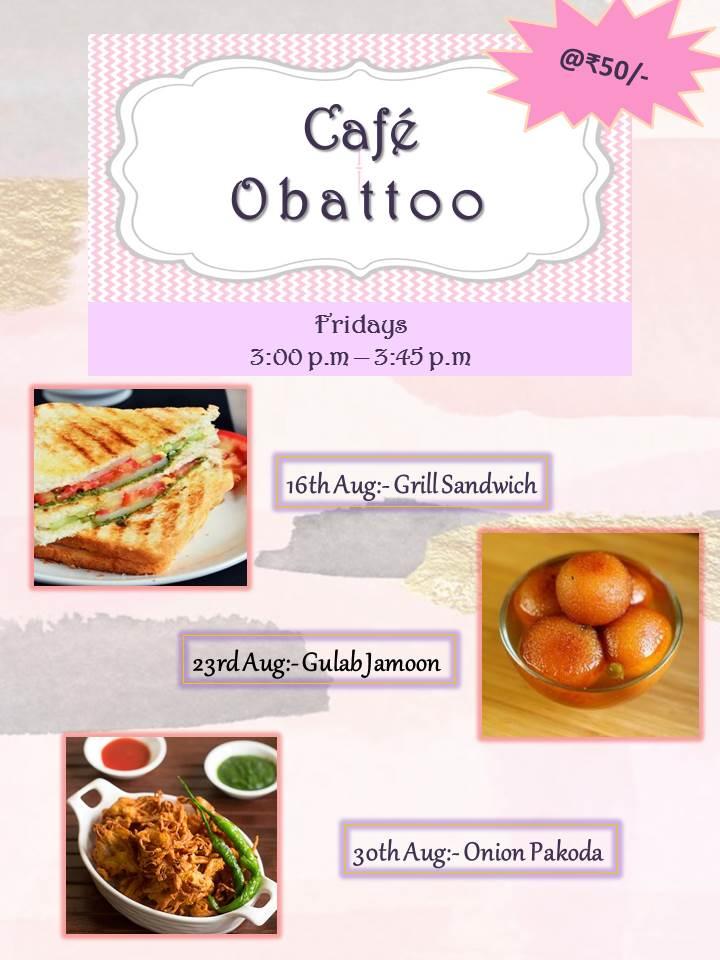 Cafe Obattoo – August 2019