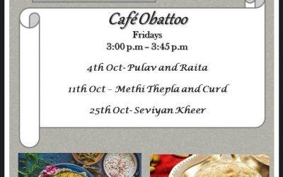 Cafe Obattoo – Oct 2019